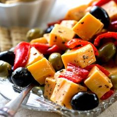 Cheese Peppers and Olives Marinated Cheese Peppers and Olives - An easy, delicious appetizer that takes no time at all to make.Marinated Cheese Peppers and Olives - An easy, delicious appetizer that takes no time at all to make. Finger Food Appetizers, Yummy Appetizers, Appetizers For Party, Appetizer Recipes, Keto Recipes, Cooking Recipes, Healthy Recipes, Christmas Appetizers, Cheese Appetizers