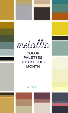 On the Creative Market Blog - 20 Metallic Color Palettes to Try This Month: April 2016