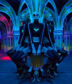 #DollsKill #Get #Lit #photoshoot #lookbook #model #look #inspo #fashion #ootd #glow #dark #rave #LED #lights #neon