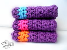 Free Crochet Square Washcloth Pattern