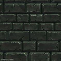 Hand Painted Stone Tiles, Danielle Gomez on ArtStation at https://www.artstation.com/artwork/hand-painted-stone-tiles