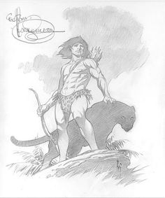 Mark Schultz Tarzan Comic Art