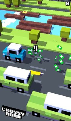 I hate green cars!!!! Crossy roads