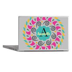 Personalized Monogrammed Laptop Skins on CafePress.com
