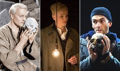 Antic dispositions: left to right, Laurence Olivier, Maxine Peake and David Tennant have played Hamlet.