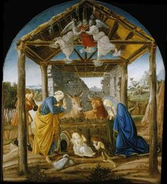 ❤ - SANDRO BOTTICELLI ( 1445 - 1510) - The Nativity. Columbia Museum of Art.