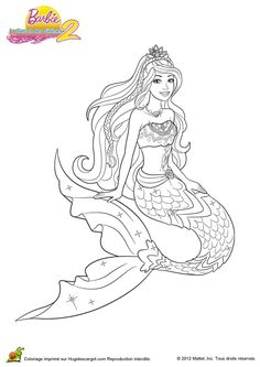 free hq barbie mermaid tale movie colouring page for kids