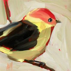 """western tanager"" - Original Fine Art for Sale - © Angela Moulton"