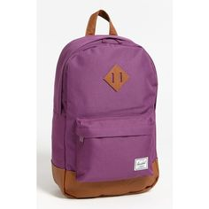 Herschel Supply Co. 'Heritage Mid Volume' Backpack ($55) ❤ liked on Polyvore featuring bags, backpacks, polyester backpack, strap backpack, laptop backpacks, herschel supply co. and laptop rucksack