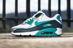 Trendy Women's Sneakers :   Nike Air Max 90 WMNS   White / Turbo Green   Nightshade   Metallic Sail    - #Women'sshoes
