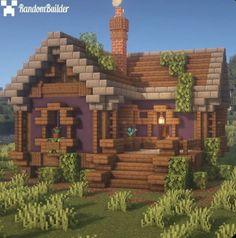 Casa Medieval Minecraft, Minecraft House Plans, Minecraft Farm, Minecraft Houses Survival, Easy Minecraft Houses, Minecraft House Tutorials, Minecraft Tutorial, Minecraft Blueprints, Minecraft Crafts