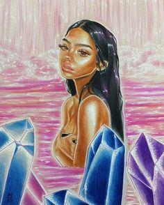 🎨🧡 Colors progress 🧡🎨 re Black Love Art, Black Girl Art, Black Girl Cartoon, Black Art Pictures, Black Artwork, Hippie Art, Afro Art, Magic Art, Dope Art