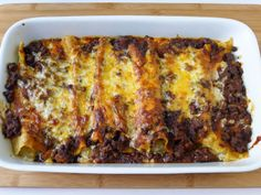 Cheese & Onion Enchiladas with Beef Chili Sauce