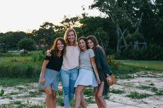 Beach Trip 2017 - The Little Duckwife Mary Kate Robertson, Robertson Family, Sadie Robertson, Miss Kays, John Luke, Gingham Skirt, Madewell Denim, Duck Dynasty, Swim Top