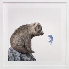 Blue Fish Wish by Maja Cunningham at minted.com