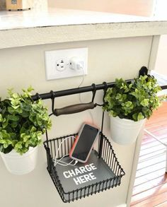 Best DIY Room Decor Ideas for Teens and Teenagers - Charging Station - Best Cool Crafts, Bedroom Accessories, Lighting, Wall Art, Creative Arts and Crafts Projects, Rugs, Pillows, Curtains, Lamps and Lights - Easy and Cheap Do It Yourself Ideas for Teen Bedrooms and Play Rooms http://diyprojectsforteens.com/diy-room-decor-ideas-teens