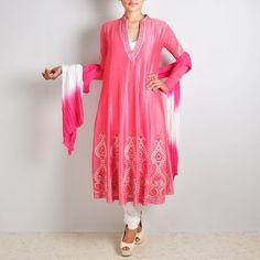 Classy Pink Embellished Anarkali Suit