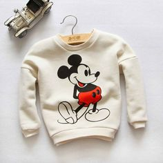 Long-sleeved sweatshirt with a full body mickey mouse design. Ribbing at cuffs and hem. Soft, brushed inside. This Product fits true to size, please order a size up for looser fit. DETAILS 100% cotton. Machine wash warm Imported Pre-Orders take 2-3 weeks to ship.