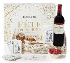 Clos du Bois Fete in a Box by Jung Lee gift box (includes assorted party goods), $89; closdubois.com