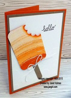 Jan Girl: Stampin' Up Work of Art BYOP Graduation and Popsicle and Wetlands card