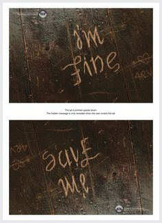 Depression Awareness Ads Reveal Cry For Help When Viewed Upside Down