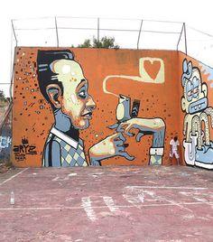 Murals street art, street art graffiti, street art, art moderne, c Graffiti Murals, Murals Street Art, Street Art Graffiti, Mural Art, Art Art, Urban Street Art, 3d Street Art, Street Artists, Graffiti Characters