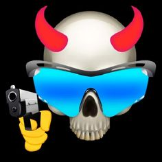 It is very cool Blue Ghost Rider, Mirrored Sunglasses, Cool Stuff