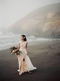 Strikingly beautiful bridals on the California Coast via Magnolia Rouge