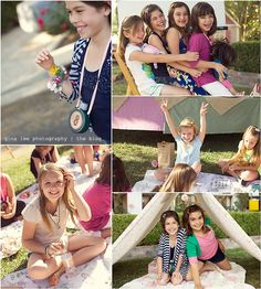 We went camping for Madeleine's 8th birthday, and she invited all her favorite girlfriends over for some s'mores and fun.. and FUN it was.. ...
