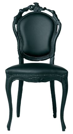 Smoke Chair Chair Black by Moooi