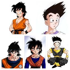Over the years there has amounted several designs depicting how Goten would appear as a young adult. What is your definite adult Goten? (End of Z (upper left), GT(upper right), Absalon (bottom left), Multiverse (bottom middle), AF (Bottom right). Dragon Ball Z, Dragon Ball Image, Goten Y Trunks, Z Arts, Comic Games, Son Goku, Manga Comics, Illustrations, Manga Anime