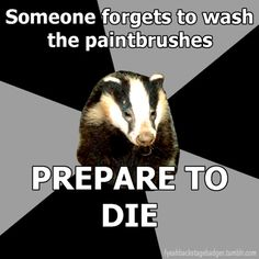 backstage badger Story of my theatre life