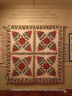 Telling Stories Through the Needle's Eye: Two Golden Ages of Appliqué—An Exhibit Curated by Debby Cooney