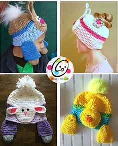 Faux fur poms and messy bun/ponytail beanies are super popular and fun to wear….they also make the perfect Cotton Tails!