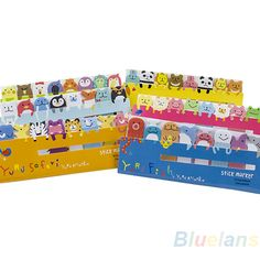 3sets/lot Funny Animals Sticker Post-It Bookmark Book Paper Marker Memo Flags Index Tab Sticky Notes $2,23