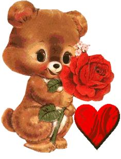 Animated Gif by Mary Meier Love Heart Gif, Love You Gif, Love You Images, Cute Love Gif, Teddy Bear Pictures, Bear Images, Coeur Gif, Happy Friendship, Beautiful Gif