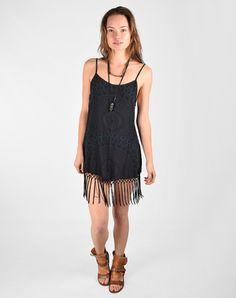 Cleobella Camille Fringe Dress in Radial Over Dye