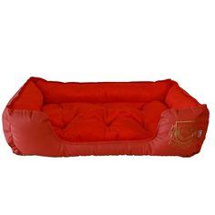 Cama Pet Super Luxo Corino e Velboa Vermelha Divina Raça - MeuAmigoPet.com.br #petshop #cachorro #cão #meuamigopet