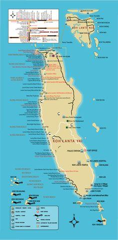 Map Koh Lanta