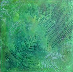 Ferns acrylic painting original artwork green by NewCreatioNZ