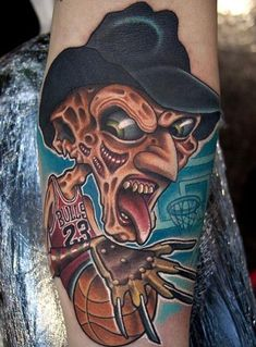 freddy-kreuger-new-school-tattoo_josh-woods.jpg (467×633)