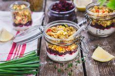 Verrine de quinoa au chèvre frais et petits légumes-1