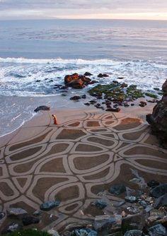 Beach Art key christchurch. New Zealand