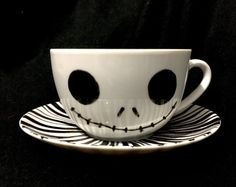 Jack Skellington Cup and Saucer by LoubieLouByLinda on Etsy