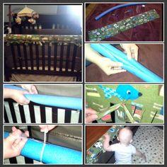 20 minute $20 no sew crib rail guard!