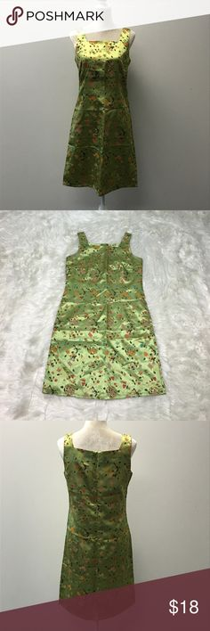 """STREET FASHION Women's Asian Inspired Dress Medium Lime, orange, blue and purple Asian design. Sleeveless, satin, square neckline and back zip! In excellent like new condition! 36"""" bust 34"""" waist 38"""" hips 38"""" length. STREET FASHION Dresses"""