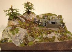 Norway 109 Crash Site Diorama