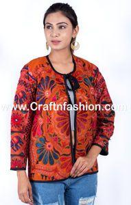 Gujarati Kutchi Hndmade Jacket - Gujarati Embroidered Jacket- Indian handmade silk Jackets