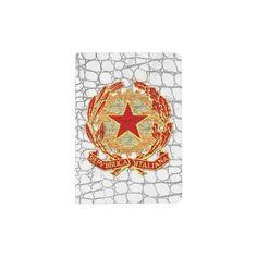 Repubblica Italiana Rosso Oro Bianco Passport Holder
