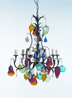 Image result for chandelier glass fruit chandeliers pinterest funky coloured glass chandelier google search aloadofball Images